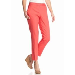 Vince Camuto Guava Fruit Front Zip Ankle Pants